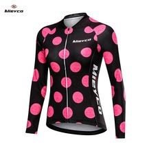 Mieyco Long Sleeve Jersey Women Bike Shirt Reflective Cycling Breathable MTB Maillot Ciclismo