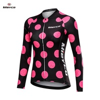 Mieyco Long Sleeve Jersey Women Bike Shirt Reflective Cycling Jersey Breathable Cycling Shirt MTB Jersey Maillot Ciclismo