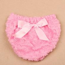 Newborn Bow Ruffle Cotton Baby Girl Bloomers Diaper Cover Tutu Ruffled Panties Birthday Shorts Newborn Photo Props