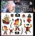 Nova tatuagem de tatuagens temporárias etiqueta dos desenhos animados para crianças festa de aniversário decoração suprimentos