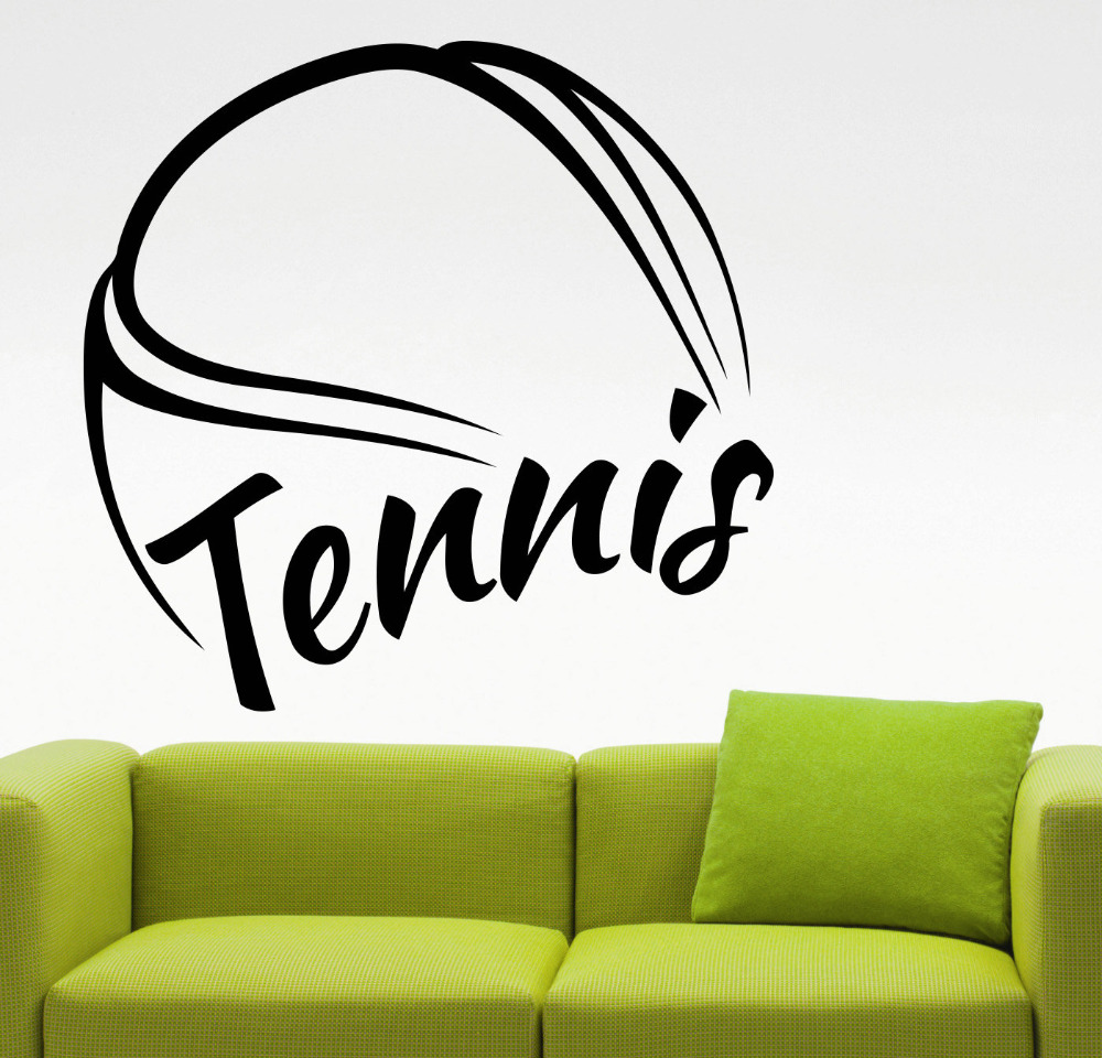 . US  4 91 26  OFF Tennis Wall Decal Sports Logo Sticker Home Decorations  Bedroom Dorm Kids Room Gym Sports Removable Decor Vinyl Wall Art Mural in  Wall
