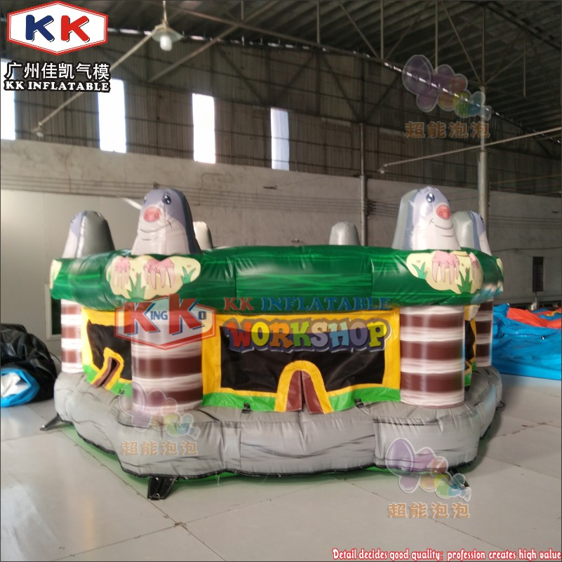 KK Hot sale cheap inflatable human whack a mole interactive game for kids