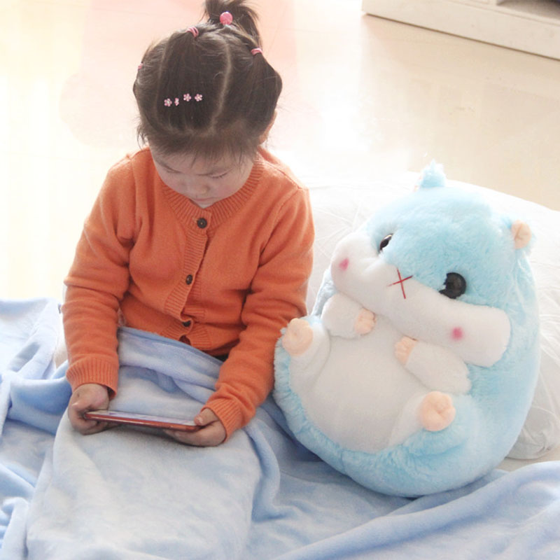 2 In 1 Hamster Cushion Blanket Set Cute Plush Stuffed Throw Pillow With Blanket Toy 2019ing