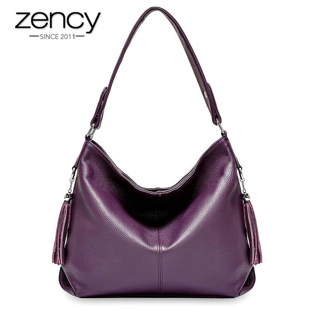 Zency элегантный для женщин сумка 100% пояса из натуральной кожи модные женские сумки ленточки Шарм Белый Crossbody Кошелек черный
