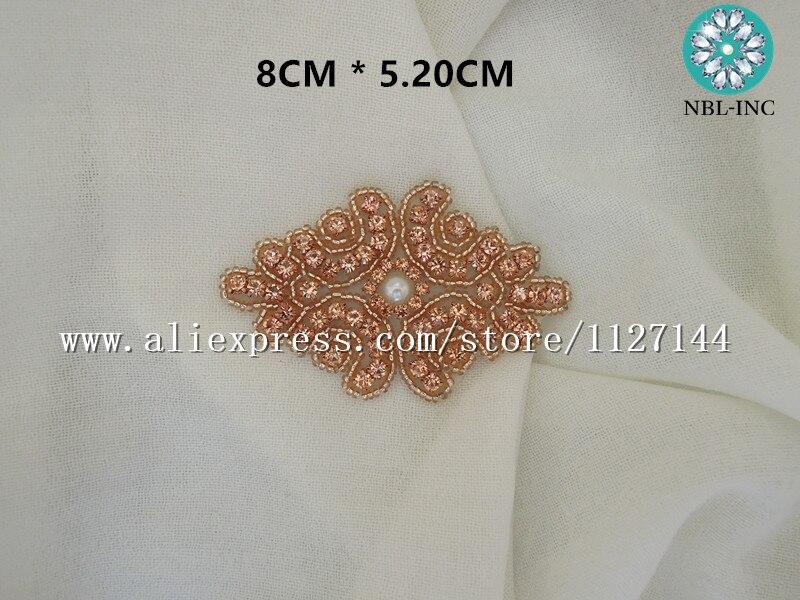 Image 3 - (50PCS ) Beaded rhinestone applique DIY iron on garment hair  accessories WDD0778rhinestone applique iron onrhinestone  appliquecrystal rhinestone applique