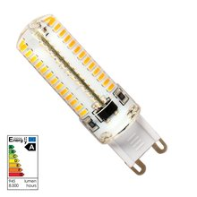4X Corn light trpe G9 Led Silicon Lamp 104x3014 SMD 7W 560LM AC 220V White Warm Lights corn led
