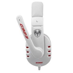 Image 3 - SOMiC G923 DJ tiefe bass Gaming kopfhörer Kopfhörer mit Mikrofon PC Headset computer spiel musik stirnband 3,5mm