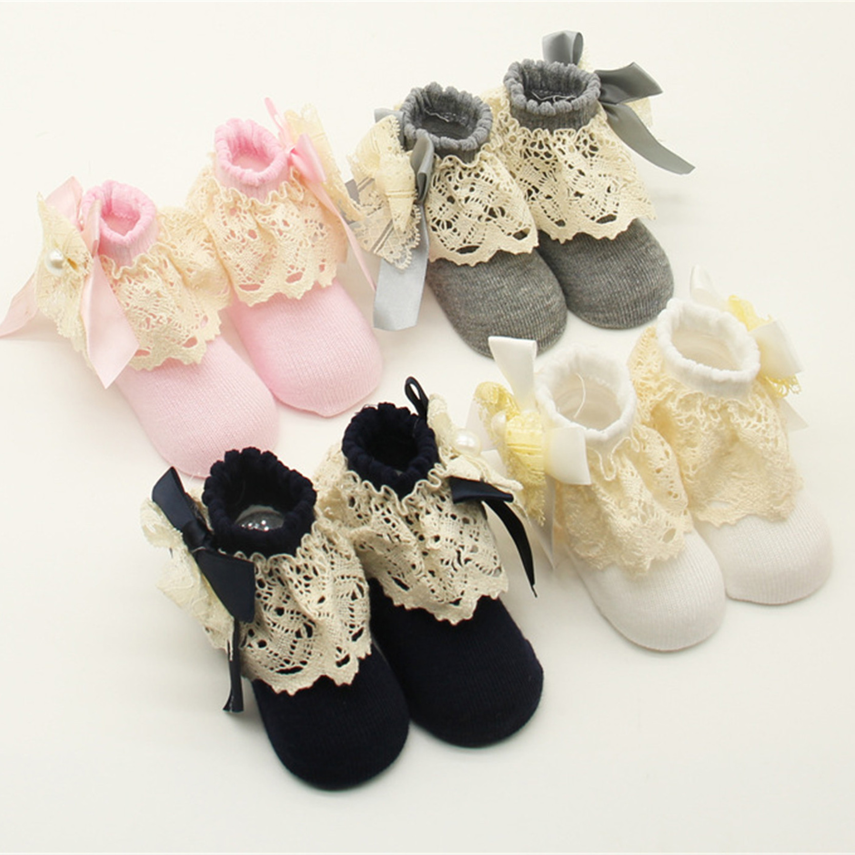 0 12 Months Baby Girls Newborn Socks Infant Ankle Shoes Socks Kids