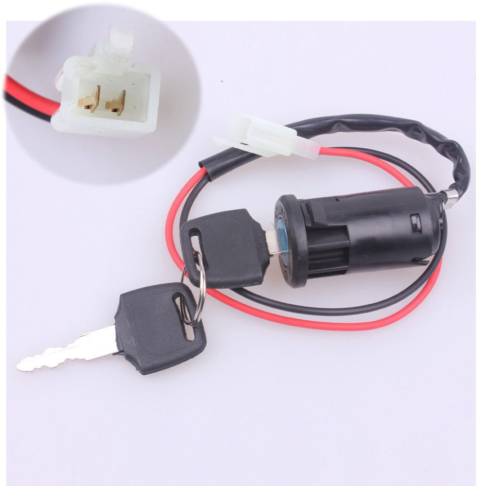 MYMotor Ignition Key Switch Lock 2 Wire Electrical Scooter 2 Position