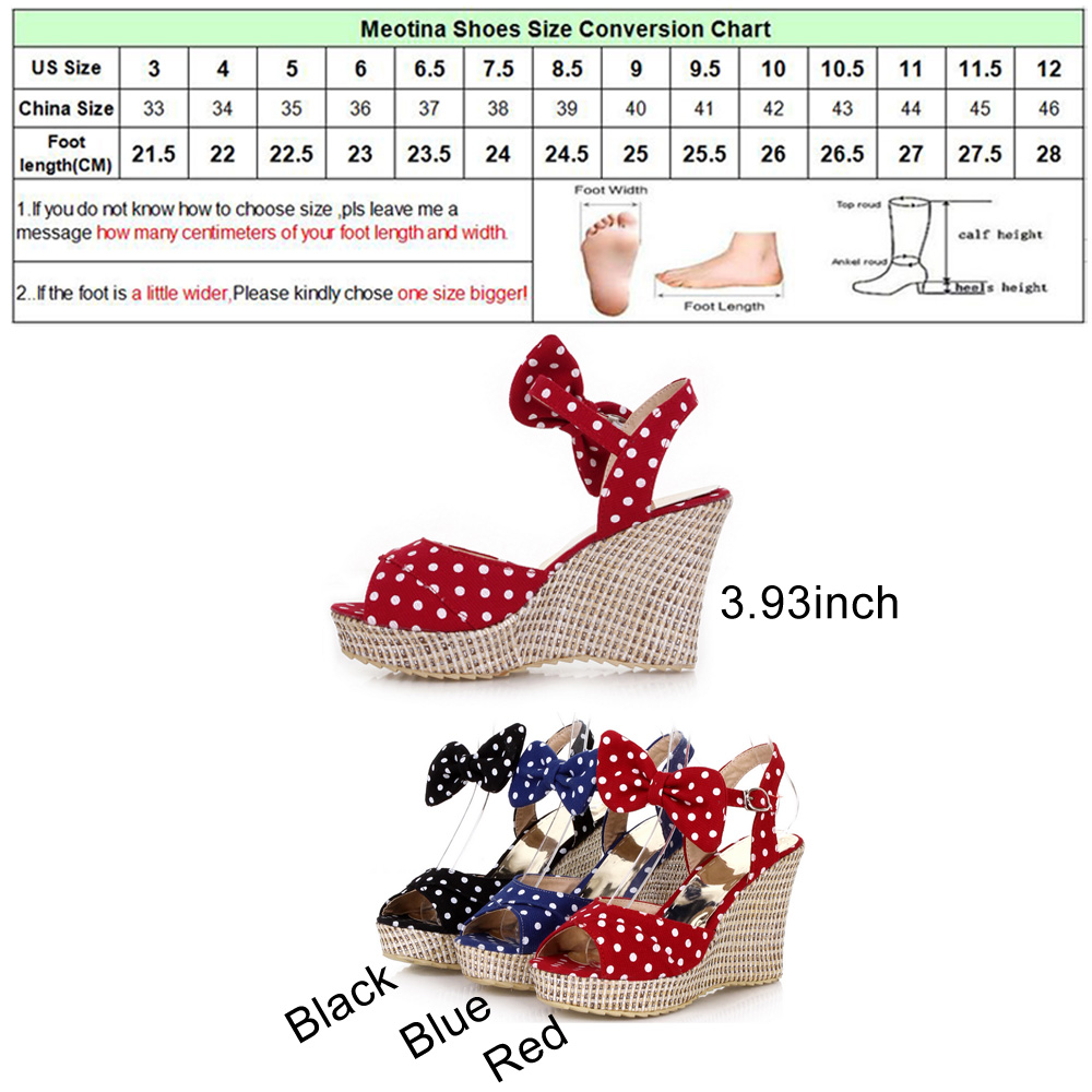 Meotina summer platform shoes ladies fish toe polka dot bow meotina summer platform shoes ladies fish toe polka dot bow platform wedges heels women shoes two piece ladies shoes red blue in high heels from shoes on nvjuhfo Images