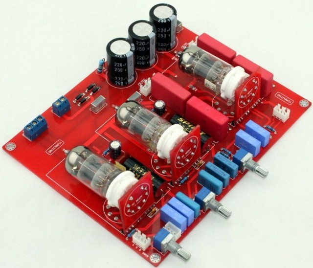 Livraison gratuite 6N1 Hifi Tube Amplificateur Conseil Tone Préamplificateur Conseil Assemblé assemblé amplificateur conseils 60VAC + 6.3VAC
