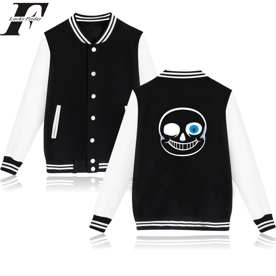 2017 Undertale SANS and Papyrus Baseball Jacket Women men Cardigan in Undertale Skeleton Winter casaco Jackets moletom masculino