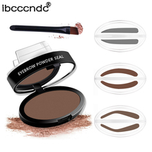 Фотография New Long Lasting Waterproof  Eyebrow Powder Makeup Brown Brow Stamp Palette Delicated Shadow Brow Powder Brow Stamp with Brush