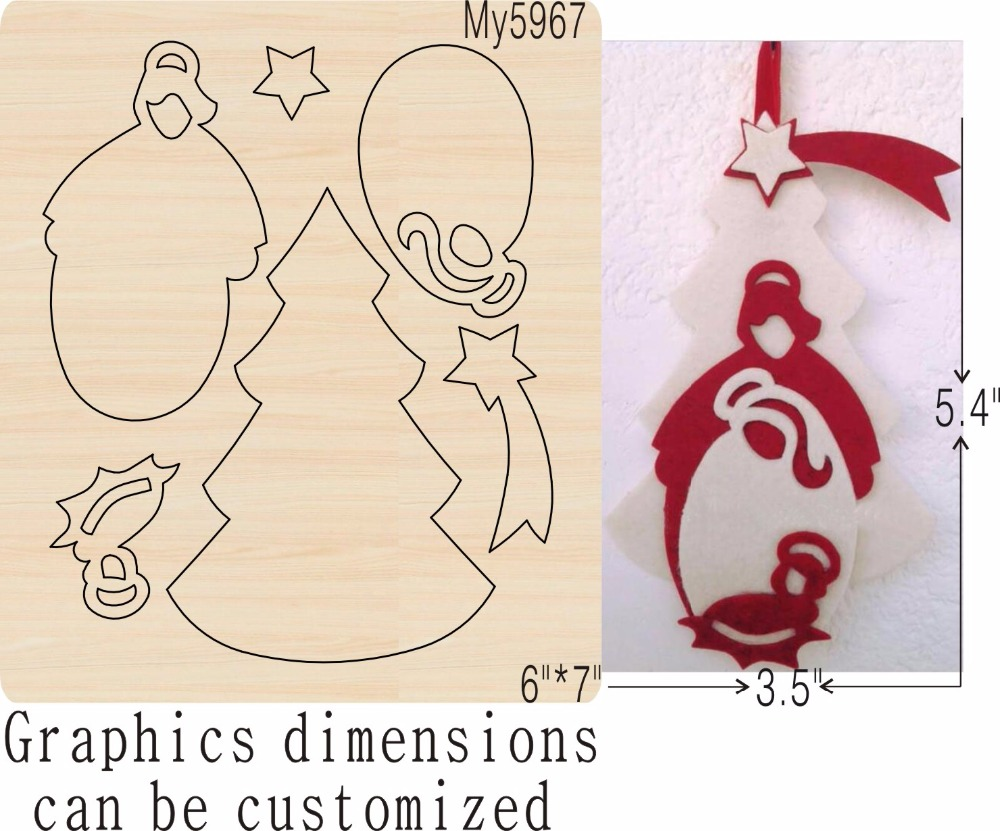 Trees and stars new wooden mould cutting dies for scrapbooking Thickness 15 8mm