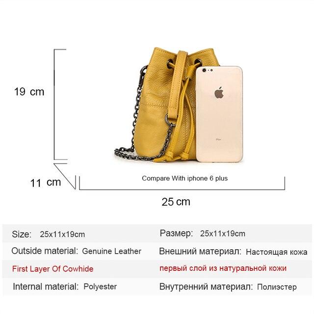 Newest Fashion Bucket Bag Summer Women Genuine Leather Shoulder Bag Lady Soft Real Leather Cross Bag Simple Messenger Bag E 5