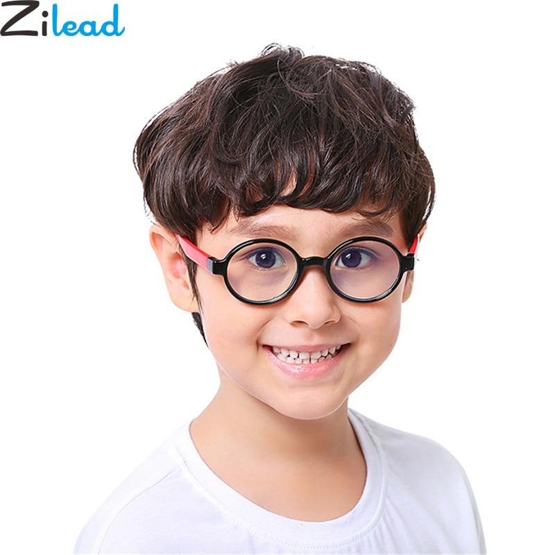 Zilead Baby Slicone Anti blue ray Plain Glasses Brand Kids