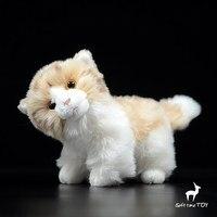 Plush Cats Doll Toys Children Simulation Animals Yellow Marking Cat Dolls Birthday gifts