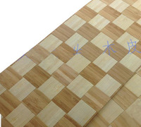 Square Meter Pcs Lamp Decorations Veneer Natural Braided Weave Wood Veneer With Nonwoven Fabric