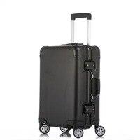 20''24''Full Aluminum Luggage Travel Trolley Suitcase Metal Hardside Rolling Luggage Suitcase Carry on Luggage Boarding Case