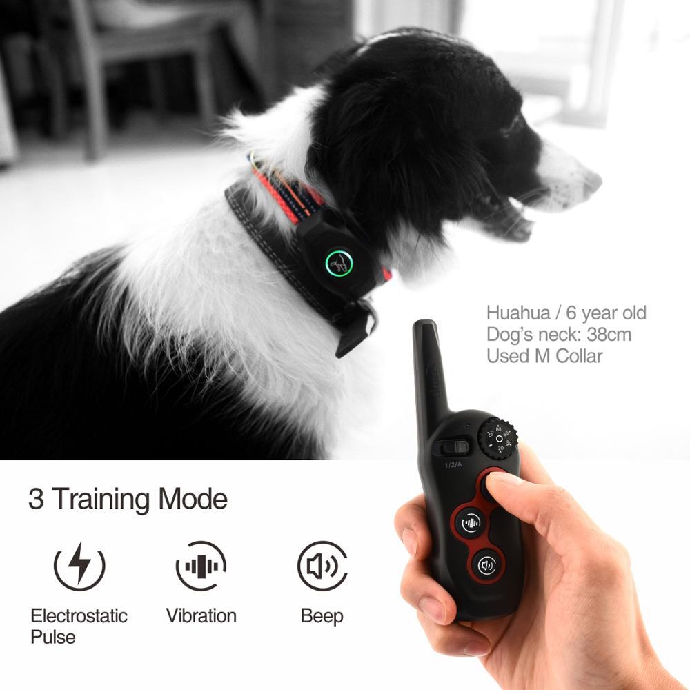 DoBe 400 м 2 в 1 Электрический дистанционный ошейник для дрессировки собак, водонепроницаемый перезаряжаемый ошейник, можно использовать отдельно в качестве ошейника против кора - 4