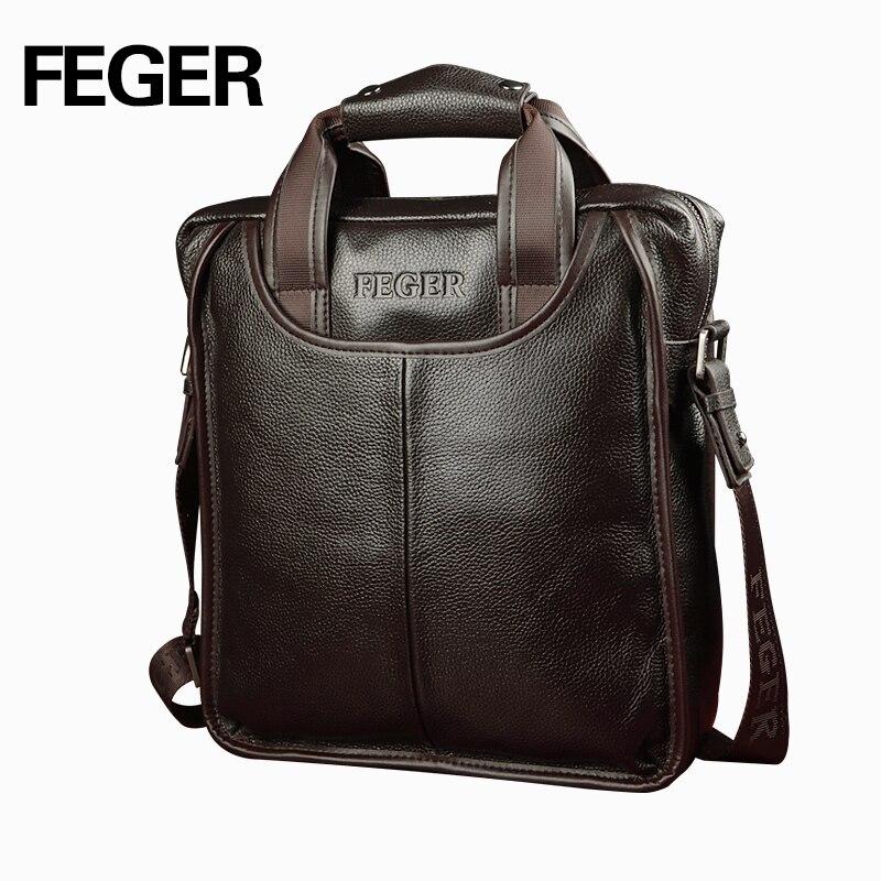 Feger 2018 Лидер продаж пояса из натуральной кожи Бизнес Портфели портативный ноутбук сумка повседневное кошелек Homme Marque Crossbody