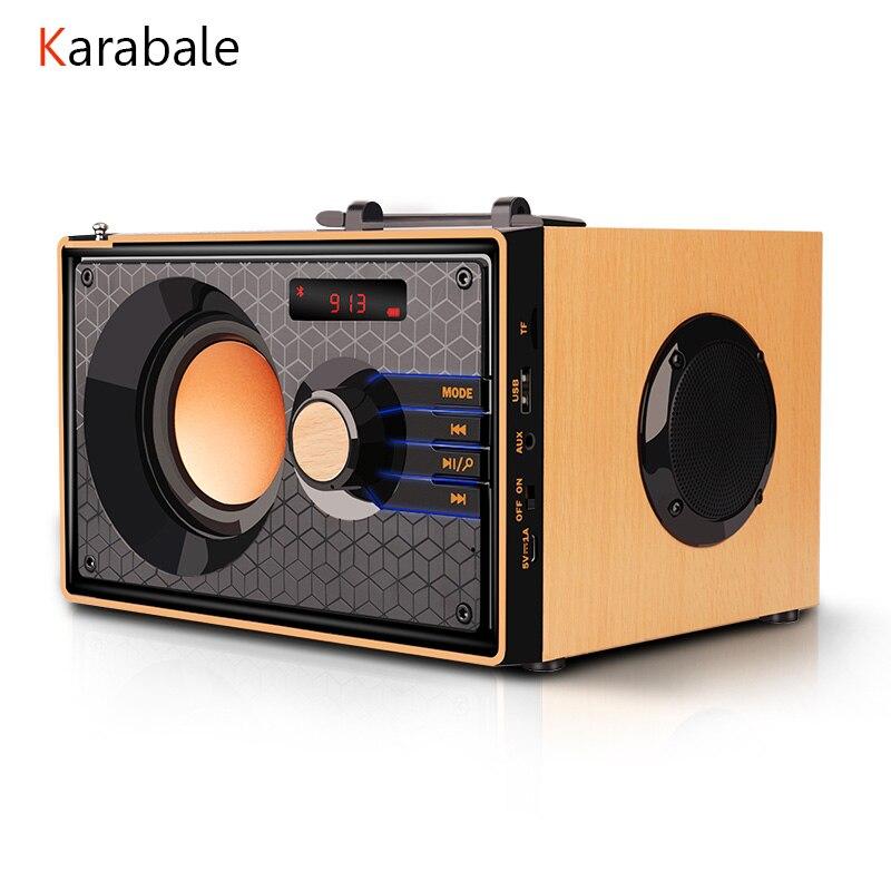 Haut-parleur Bluetooth Portable en bois caisson de basses sans fil de bureau 3 unités sonores HIFI basse lourde stéréo FM TF haut-parleur de barre de son