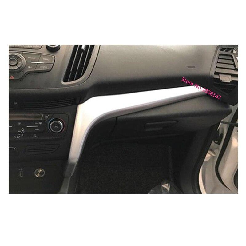 Voiture autocollant style Console centrale contrôle Central navigation climatisation garniture cadre 2 pièces pour Ford Kuga 2017 2018 2019