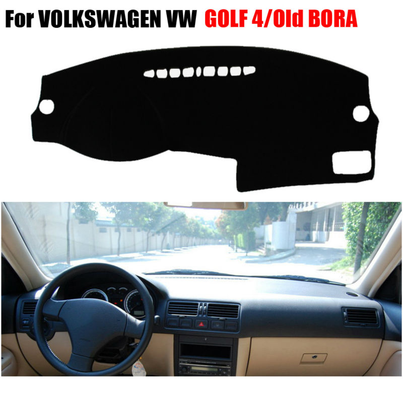 FUWAYDA Car dashboard covers For VOLKSWAGEN VW GOLF 4 1997-2003 /Old BORA 2006 years left hand drives dashmat pad dash cover