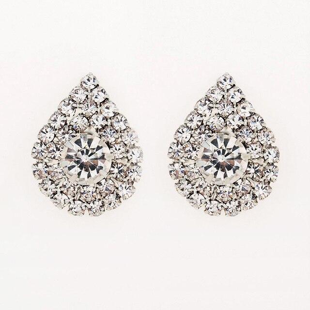 2016 długi biżuteria spadek kolczyki ślubne dla narzeczonych popularne rhinestone sukienka baldpates kamień naturalny kobiety kolczyki E016