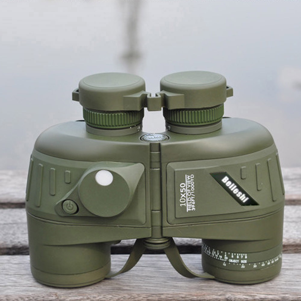 цена на 10X50 396FT/1000YDS Sports Military Optics Binocular Telescope Spotting Scope with Compass for Hunting Camping Hiking Traveling