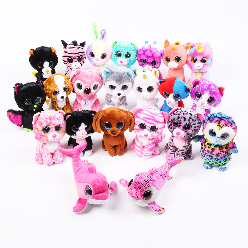 5PCS/SET Toys Beanie Boos Big Eyes Plush Animal Poodle Toys Best gifts for Children Toy TY Nano Dolls Educational a toy a dream beanie cute boo slick poodle plush toys 6 15cm plush dolls fox