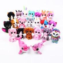 5PCS/SET Toys Beanie Boos Big Eyes Plush Animal Poodle Toys Best gifts for Children Toy TY Nano Dolls Educational