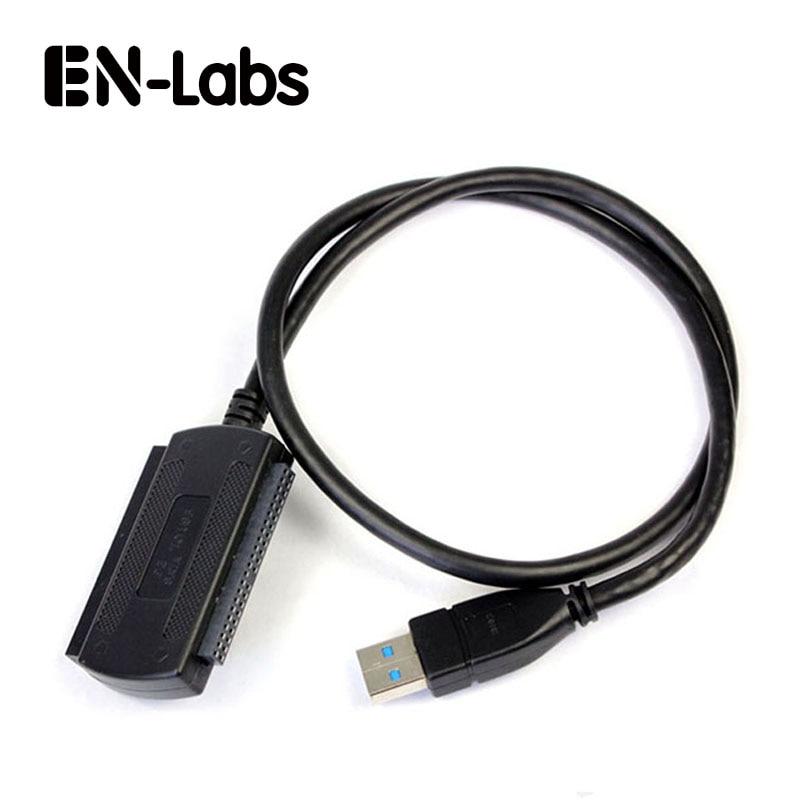 """EN-Labs Նորագույն 3-in-USB USB 3.0-ից IDE / SATA 2.5 """", 3.5"""" Կոշտ Սկավառակի սկավառակի HDD փոխարկիչի ադապտեր մալուխներ -SATA IDE to USB 3.0 սև"""