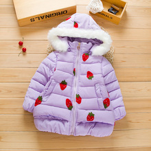 HOT Winter girl with thick cotton padded Collar have burrs cap cap removable zipper cotton padded