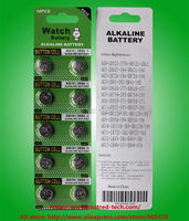 500cards/Lot, LR1130 AG10 189 L1131 389 V10GA 1.5V alkaline button cell battery, 100% fresh high quality