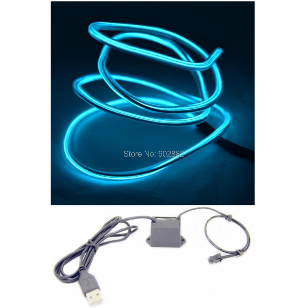 bendy el wire with steel wire inside, with dual core wires +1 Meter(5.0mm)+ USB 5v Inverter + Mix Order Available-in LED Strips from Lights & Lighting ...