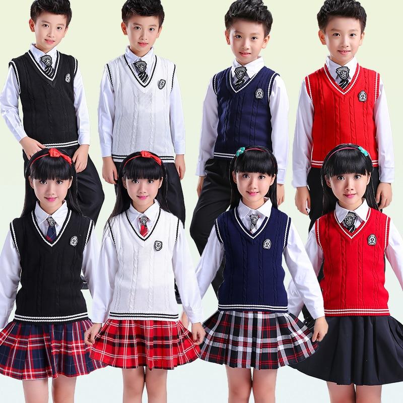 Uniforme scolaire japonais sans manches chandail gilet uniformes v-cou japonais lycée uniforme pull costume