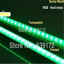 LED bar light 1m length/pc RGB bar light SMD5050 hard strip milky/transparent  PC cover 12VDC,led cabinet lights IP65