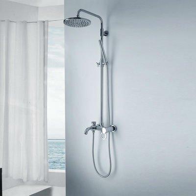 ems free shipping single handle double shower rainfall bathroom shower faucet set h01030024
