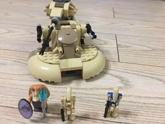 Bela 10371 Star Wars Building Block set Jar Binks AAT Battle Droid minis Kids Toy Compatible 75029