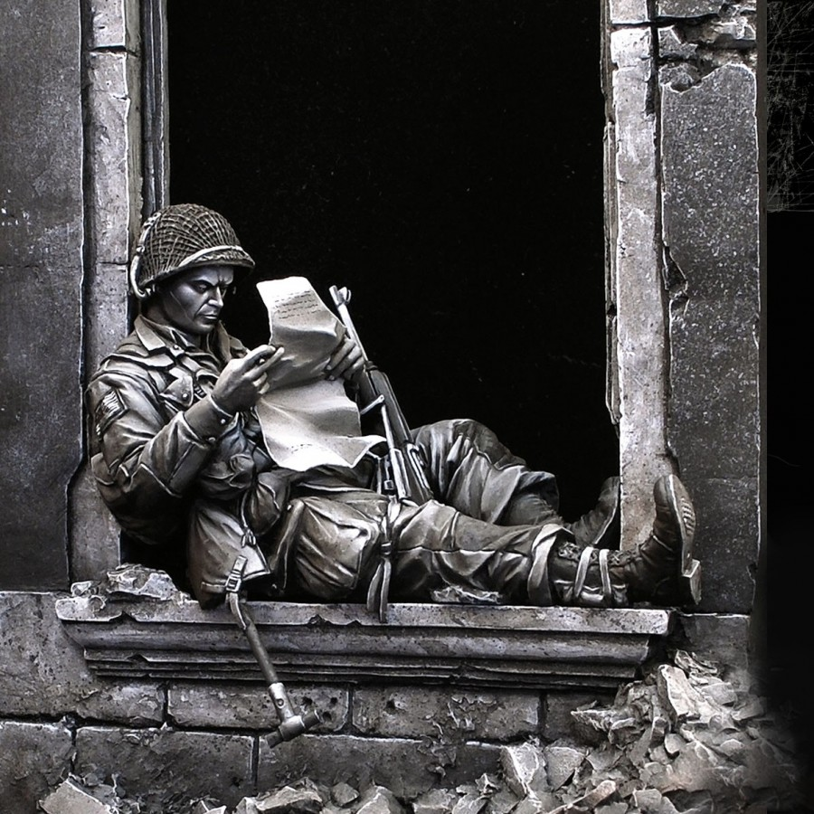 US $47 36 |Free Shipping 1/24 Scale 7 5cm Unpainted Resin Figure World War  II 505th PIR 82nd Airborne ( Scenes include ) collection figure-in Model
