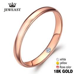 18k czystego złota miłośników para pierścień prawdziwe 750 Rose romantyczna kobieta Lady Man zaproponować poślubić dostał zaangażowany ślub hurtownie 2020 nowy