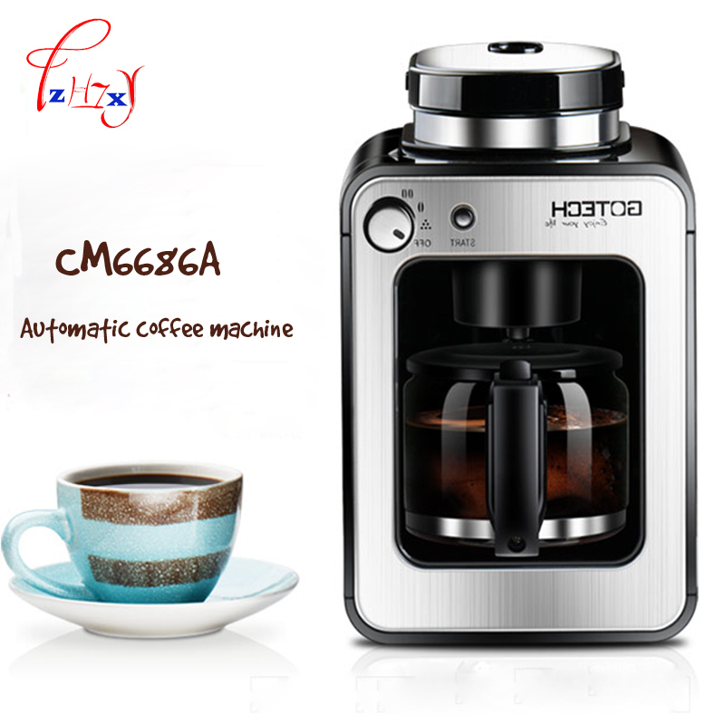 Full Automatic Grinding Machine 580ml Coffee Grinding Machine Beans Double Use American  Coffee Machine For Home 1pc home intelligent fully automatic american style coffee machine drip type small is grinding ice cream teapot one machine