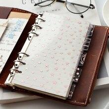 Scrapbook-Separator Transparent Photo-Album Pink A5 A6 for 5pcs Divider-Pages Leaf-Texture