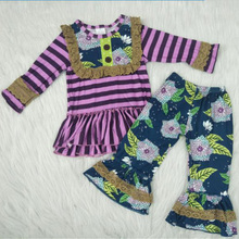 Yawoo Popular Baby Girl Clothes Outfits Silk Newborn Infant Kids Top+Pants Clothing Sets Suit