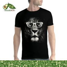 Lion Glasses Funny Animals Men T-shirt S-5XL NewNew T Shirts Tops Tee New Unisex High Quality Casual Printing