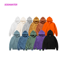 SODAWATER Girl Fleece Hoodies Streetwear Multi Color Hooded Tops 2019 Winter Hip Hop Loose Long Sleeve Unisex Sweatshirts 167W17