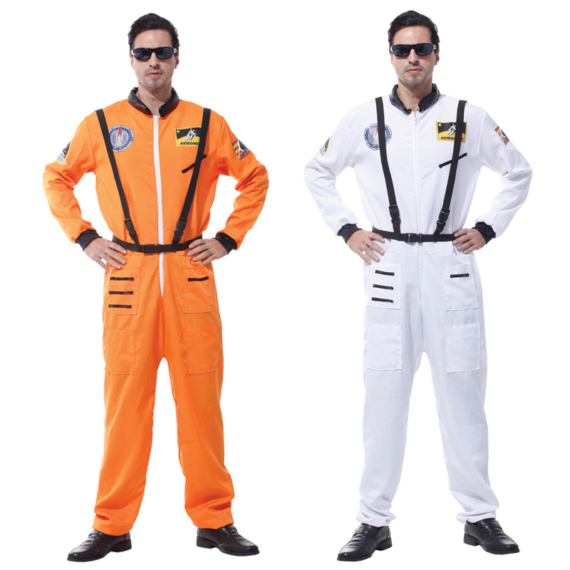 Men's Costumes Costumes & Accessories Have An Inquiring Mind H&zy Halloween Astronaut Spacesuit Costume For Adult Men Masquerade Party Fancy Cosplay Orange White Space Flight Polit Jumpsuit