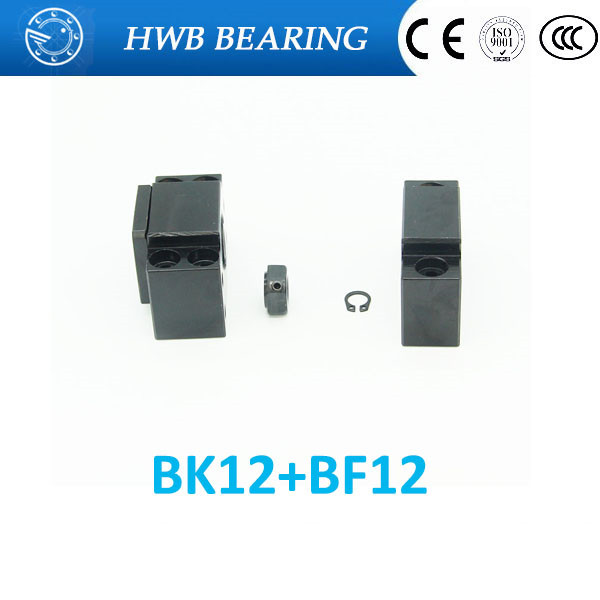 Ballscrew End Supports1pcs BK12 + 1pcs BF12 1605 1604 ballscrew End Support CNC Parts for SFU1605 SFU1604