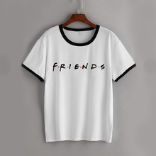 Harajuku Women Friends TV T shirt White Womens T-shirt girl tv show Tshirt Steetwear vogue